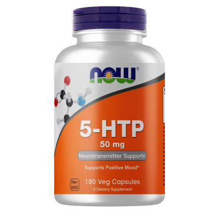 NOW 5-HTP 50 mg, 180 вегакапсул