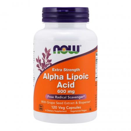NOW Alpha Lipoic Acid 600 mg, 120 вегакапсул