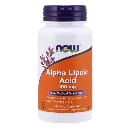 NOW Alpha Lipoic Acid 100 mg, 60 вегакапсул