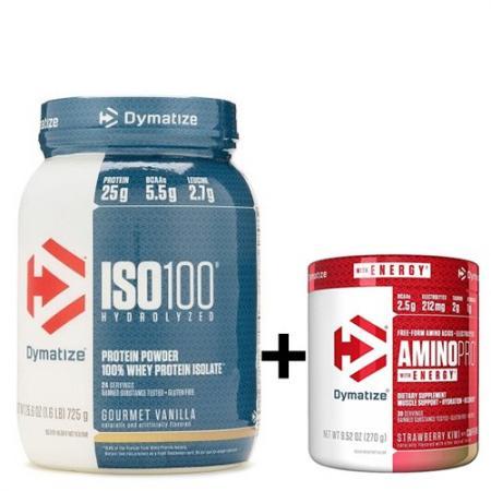 Dymatize ISO-100 1.4 кг + Amino Pro 270 грамм, SALE