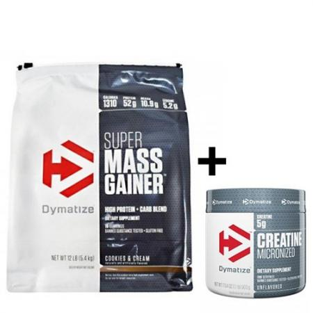 Dymatize Super Mass Gainer 5.45 кг + Creatine 300 грамм, SALE