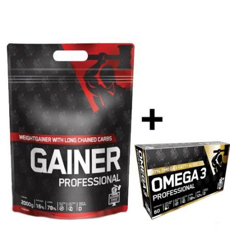 IronMaxx German Forge Gainer Professional 2 кг + Omega-3 60 капсул, SALE