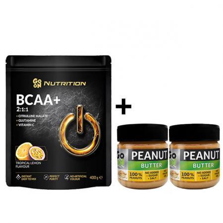 GoOn BCAA 400 грамм + Peanut butter 180 грамм*2шт, SALE