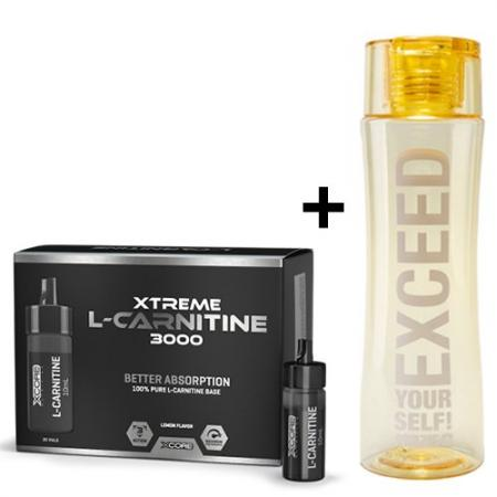 Prozis Xtreme L-Carnitine 3000 ampules 20*10 мл + Slender Bottle Yellow 600 мл, SALE