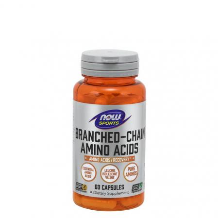 NOW Branched Chain Amino Acids, 60 капсул