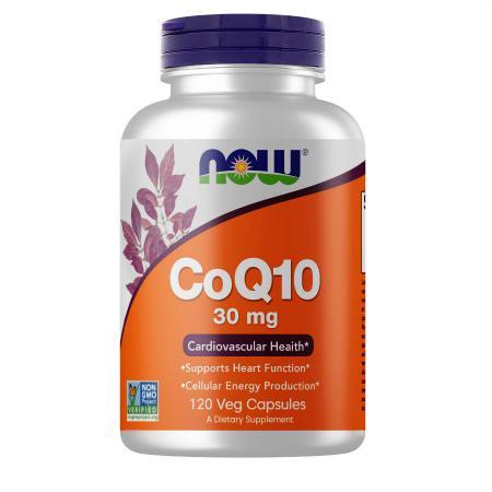 NOW CoQ-10 30 mg, 120 вегакапсул