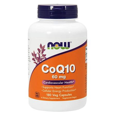 NOW CoQ-10 60 mg, 180 вегакапсул
