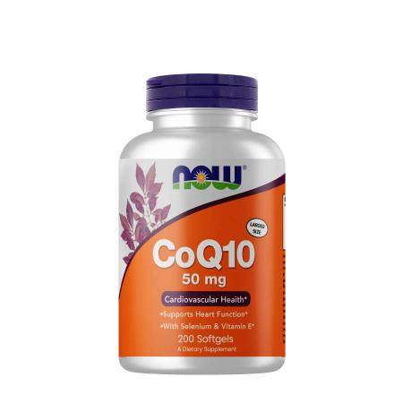 NOW CoQ-10 50 mg with Vitamin E, 200 капсул