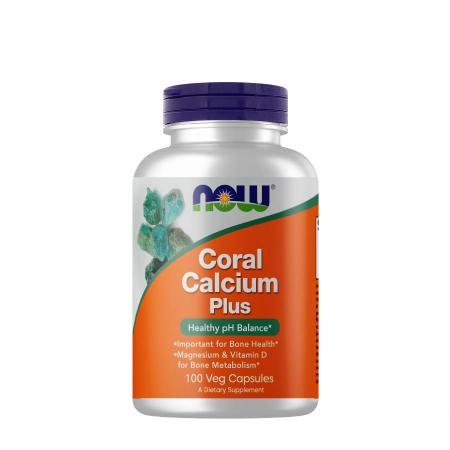 NOW Coral Calcium Plus, 100 вегакапсул
