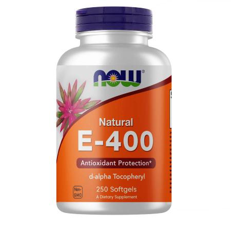 NOW Vitamin E-400 D-Alpha Tocopheryl, 250 капсул