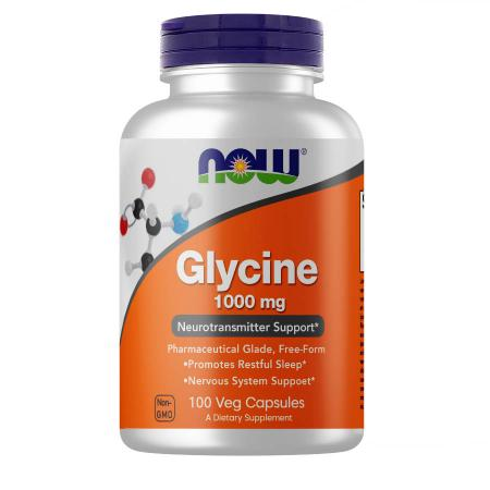 NOW Glycine 1000 mg, 100 вегакапсул