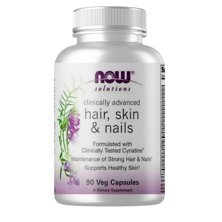 NOW Solutions Hair Skin Nails, 90 вегакапсул