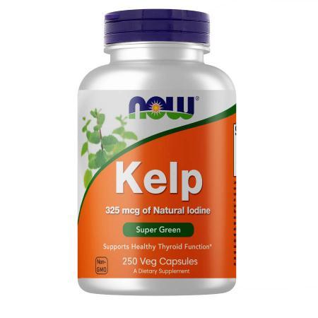 NOW Kelp 325 mcg, 250 вегакапсул