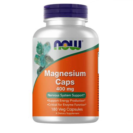 NOW Magnesium 400 mg, 180 вегакапсул