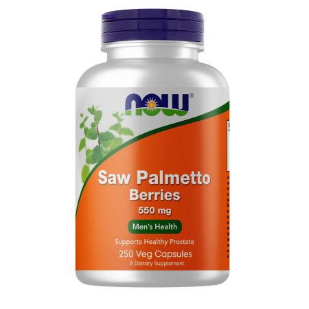 NOW Saw Palmetto Berries 550 mg, 250 вегакапсул