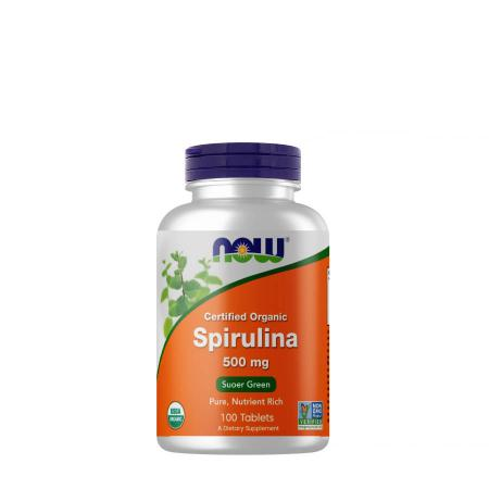NOW Spirulina 500 mg, 100 таблеток