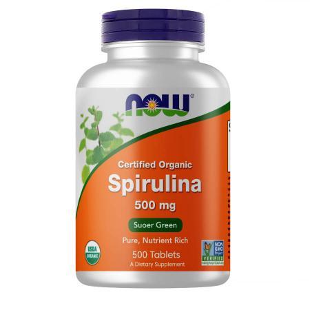 NOW Spirulina 500 mg, 500 таблеток