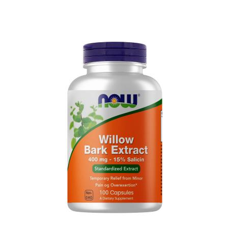 NOW Willow Bark Extract 400 mg, 100 капсул