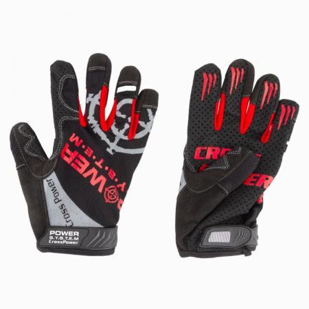 Перчатки для кроссфита Power System, черно-красные - PS-2860
