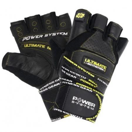 Перчатки для фитнеса Power System, черно желтые - PS-2810