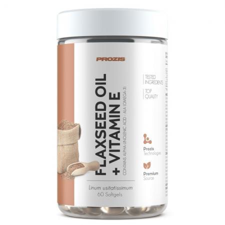 Prozis Flaxseed Oil + Vitamin E, 60 капсул