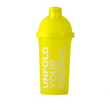 Шейкер Prozis 500 мл, жовтий - Unflod Your Energy