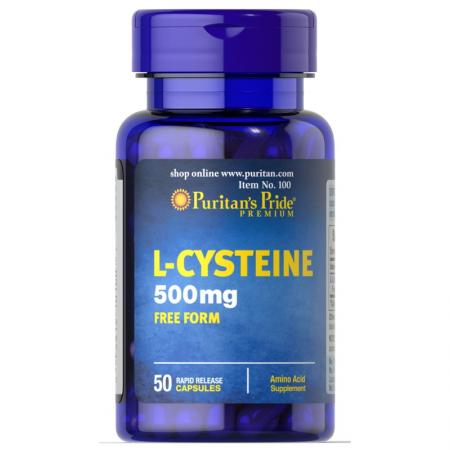 Puritans Pride L-Cysteine 500 mg, 50 капсул