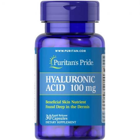 Puritan's Pride Hyaluronic Acid 100 mg, 30 капсул