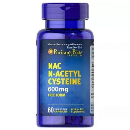 Puritan's Pride N-Acetyl Cysteine 600 mg, 60 капсул