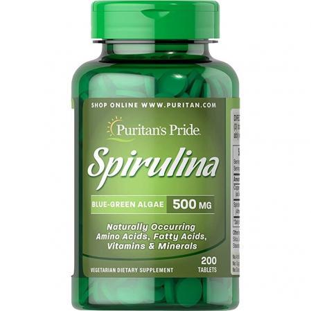 Puritans Pride Spirulina 500 mg, 200 таблеток