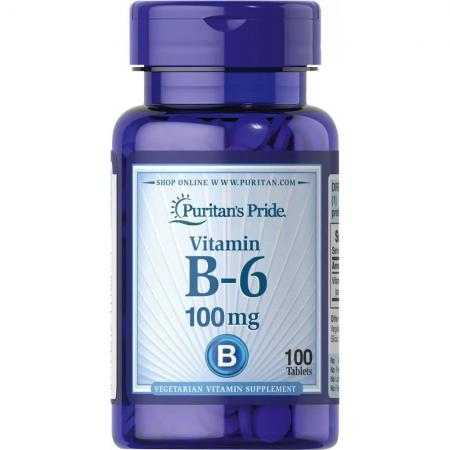 Puritan's Pride Vitamin B-6 100 mg, 100 таблеток