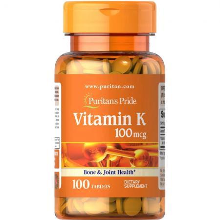 Puritans Pride Vitamin K 100 mcg, 100 таблеток