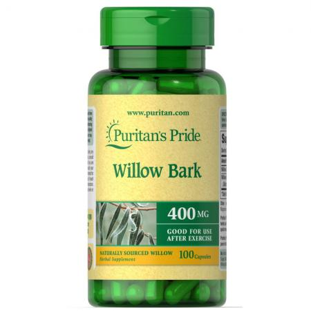 Puritan's Pride Willow Bark 400 mg, 100 капсул
