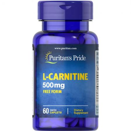 Puritans Pride L-Carnitine 500 mg, 60 капсул