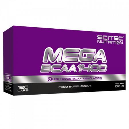 Scitec Mega BCAA 1400, 120 капсул