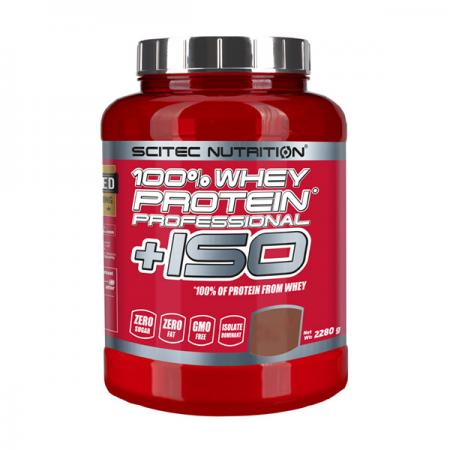 Scitec 100% Whey Protein Professional + ISO, 2.28 кг