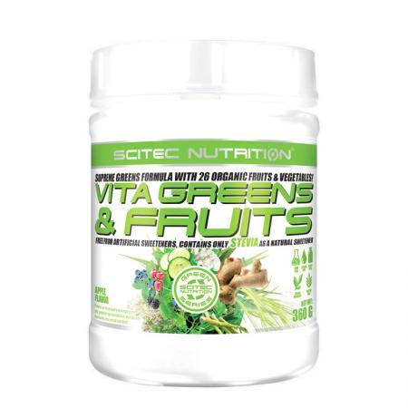 Scitec Vita Greens & Fruits Stevia, 360 грамм - Green Series