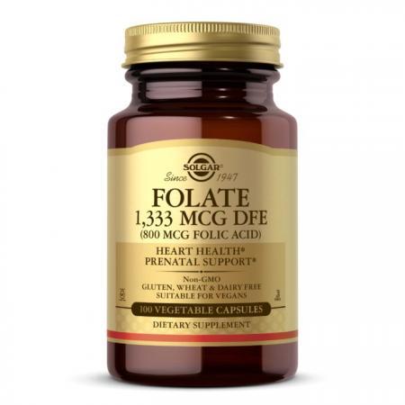 Solgar Folic Acid 800 mcg, 100 вегакапсул