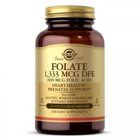 Solgar Folic Acid 800 mcg, 250 вегакапсул