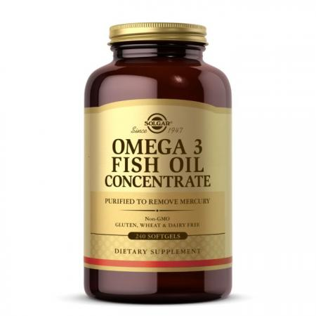 Solgar Omega 3 Fish Oil Concentrate, 240 капсул