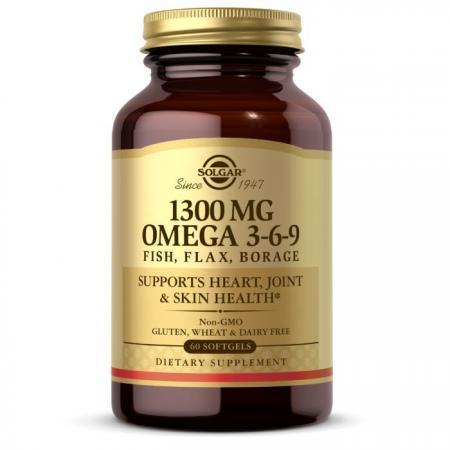 Solgar Omega 3-6-9 1300 mg, 60 капсул