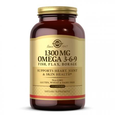 Solgar Omega 3-6-9 1300 mg, 120 капсул