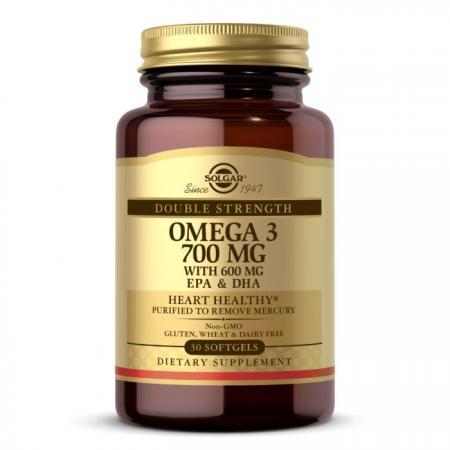 Solgar Double Strength Omega 3 700 mg, 30 капсул