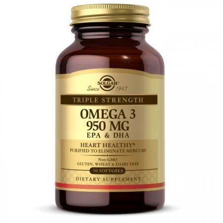 Solgar Omega 3 950 mg Triple Strength, 50 капсул