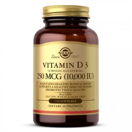 Solgar Vitamin D3 250 mcg, 120 капсул