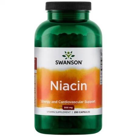 Swanson Niacin 500 mg, 250 капсул