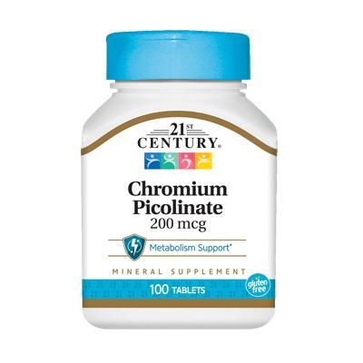 21st Century Chromium Picolinate 200 mcg, 100 таблеток