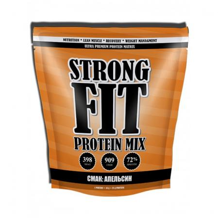 Strong Fit Protein MIX, 909 грамм-тоффи