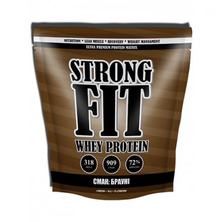 Strong Fit Whey Protein, 909 грамм-брауни