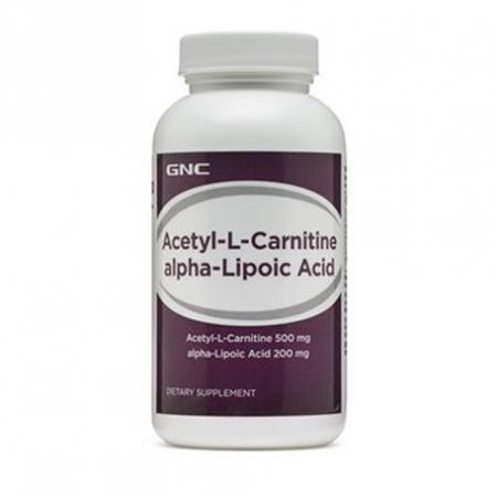 GNC Acetyl-L-Carnitine Alpha-Lipoic Acid, 60 каплет-дизайн
